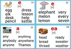 phonics flashcards for teaching English short e sound Phonics Chart, Phonics Flashcards, Flashcards For Kids, Phonics Reading, Jolly Phonics, Teaching Phonics, Phonics Activities, Teaching Reading, English Language Learning