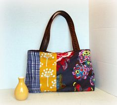 Bright color love. Handbag Purse Everyday Bag Marmalade by cayennepeppybags on Etsy