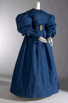 Silk Carriage Dress, circa 1830, England.
