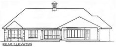 Ranch Home with Pool House - 62134V | French Country, Ranch, 1st Floor Master Suite, Butler Walk-in Pantry, CAD Available, Den-Office-Library-Study, Jack & Jill Bath, PDF, Split Bedrooms, Corner Lot | Architectural Designs