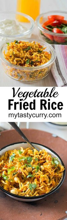 Vegetable Fried rice a great vegetarian rice dish to use up the leftovers. It's a Vegan Glutenfree and tastes exceptionally good because it is extra spicy veggie fried rice. You know I am a rice lover, in fact, I love rice more than I love Roti or paratha