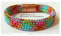 "20-Strand ""Flat"" Bracelet Kit I've got to start making flat Kumihimo bracelets."
