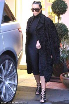 Kim Kardashian wearing Tom Ford Fringe Cage Sandals and Celine Adele Cl 41377/S Sunglasses