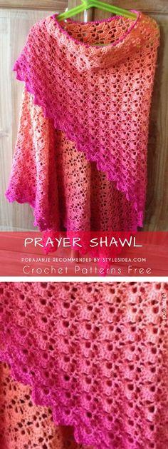 Prayer Shawl Crochet Pattern Free  #crochetpatternsfree #shawl