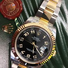 Black Arabic Rolex Datejust II in stock http://www.globalwatchshop.co.uk/rolex-datejust-ii-116333-black-arabic-dial.html?utm_content=buffer8af80&utm_medium=social&utm_source=pinterest.com&utm_campaign=buffer Available now - DM for price!