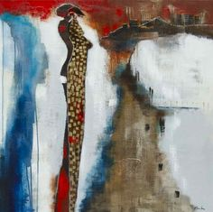 Sentiers latins, Mixed Media Painting, Poulin
