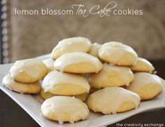 Easy Lemon Blossom Tea Cake Cookies {The Creativity Exchange}