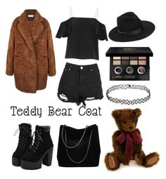 Teddy bear by applebobbing on Polyvore featuring polyvore fashion style Fendi Boohoo Gucci Lack of Color Bobbi Brown Cosmetics clothing