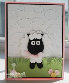 From My Pad to Yours.  Easter Lamb Punch Art Card