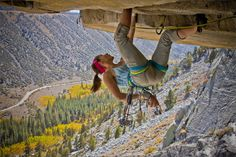 Upside-down rock climbing in the High Sierra's - sure!    Rock bums of the High Sierra