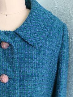 A new listing from my Etsy shop https://www.etsy.com/listing/502187823/vintage-1960s-tweed-blazer-60s-turquoise #peckandpeckblazer #tweedvintageblazer #vintgeclothing