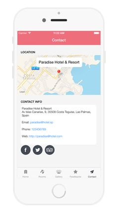 Hotel Booking APP on Behance Hotel Booking App, Paradise Hotel, Behance