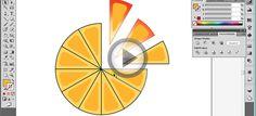 Illustrator CS5 Eğitim Seti | Sanal Öğretim şekli eşit aralıklarla dilimleme (portakal dilimleri)