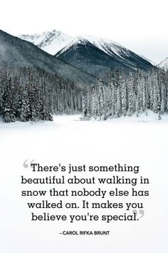 18 Absolutely Beautiful Winter Quotes About Snow – Our World's Stuff The winter holidays have always been enjoyable and enjoyable. Snow Quotes, Winter Quotes, Quotes About Snow, Quotes About Hiking, Quotes About Winter, Motivational Quotes For Life, Positive Quotes, Inspirational Quotes, Time Quotes