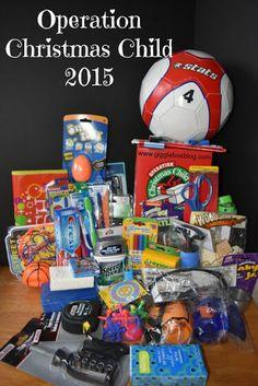 Operation Christmas Child 2015 - packing a year old boy box - Gigglebox… Christmas Child Shoebox Ideas, Operation Christmas Child Shoebox, Kids Christmas, Christmas Boxes, Shoe Box Appeal, Operation Shoebox, Samaritan's Purse, Boy Box, Blessing Bags