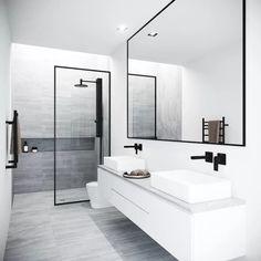 Vigo Meridian 33 - 73 Framed Fixed Glass Shower Screen in Matte Black - Badezimmer Amaturen Bathroom Trends, Bathroom Renovations, Remodel Bathroom, Boho Bathroom, Industrial Bathroom, Budget Bathroom, Restroom Remodel, Industrial Design, Shower Remodel