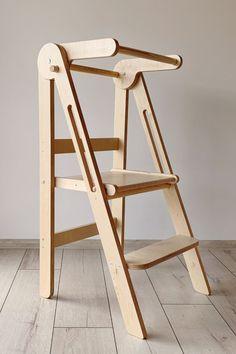 Toddler Kitchen Stool, Kitchen Step Stool, Kitchen Stools, Step Stools, Woodworking Plans, Woodworking Projects, Woodworking Videos, Woodworking Shop, Diy Stool