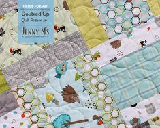 Doubled Up PDF 3 Baby Quilt Patterns Layer Cake Fat Quarters Beginning Quilter via Etsy