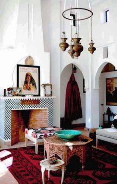 The Grand Salon in the Medina Pavillion, Peacock Pavillions, Marrakech