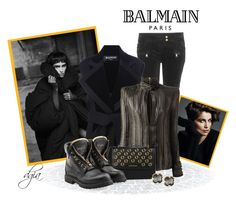 """Balmain"" by dgia ❤ liked on Polyvore featuring Balmain, Pierre Balmain and Panacea"