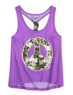 Sequin Icon Camo Tank | Fashion Graphics | Graphic Tees | Shop Justice