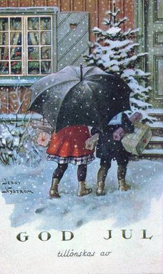 Almost Christmas - old Swedish card by Silverbluestar, via Flickr
