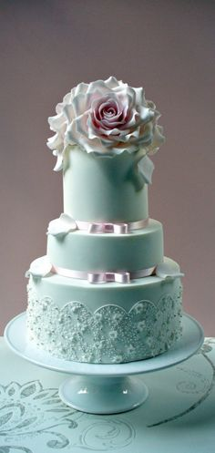 www.cakeccoachonline.com - sharing...Pink and Teal Cake