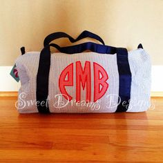 Personalized Child's Overnight Bag - Duffle Duffel Appliqued Monogram on Etsy, $30.00