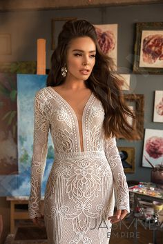 Cheap Wedding Dresses With Sleeves Tea Length Wedding Dress, Long Sleeve Wedding, Dream Wedding Dresses, Bridal Dresses, Wedding Gowns, Lace Wedding, Mermaid Wedding, Ceremony Dresses, Glam Dresses