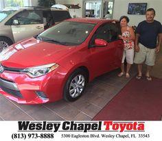 https://flic.kr/p/JMn7WP | Congratulations Elizabeth on your #Toyota #Corolla from Glenn Deller at Wesley Chapel Toyota! | deliverymaxx.com/DealerReviews.aspx?DealerCode=NHPF