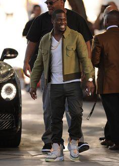 Kevin Hart wearing Nike Air Yeezy Zen Grey