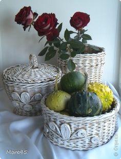 Поделка изделие Плетение Сентябрь Трубочки бумажные фото 10