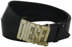Diesel Men's Bonio Belt, Black, 95 Diesel. $128.00. Made in Italy. Dry Clean Only. 100% Leather. Mohican head detail. Shiny treated leather