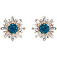 Starburst Earrings, Rose Gold Earrings, Diamond Earrings, Marilyn Monroe Diamonds, How To Clean Earrings, London Blue Topaz, Star Shape, Or Rose, Natural Diamonds
