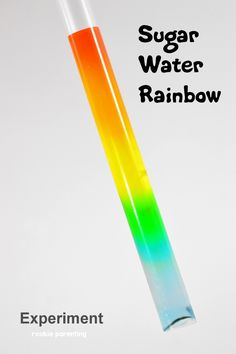 Must try this super fun STEM exercise. Learn what density is and how air pressure works. Kids will love this sugar water rainbow experiment.