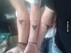 My brothers and I got a triforce tattoo