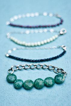 Half and Half Chain and Bead Bracelet Tutorial