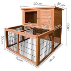 Double storey guinea pig cage with run medium 2