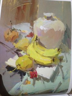 Oil Painting Ideas For Beginners Oil Painting Basics, Still Life Oil Painting, Beginner Painting, Oil Painting On Canvas, Foto Still, Art Painting Gallery, Paintings Famous, Fruit Painting, Guache