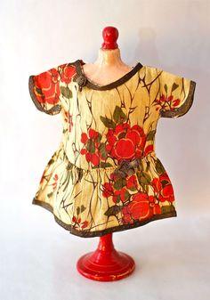 Authentic Antique 1920s Bleuette doll Floral Print Dress from BillyBoy   Collection La Semaine de Suzette Gautier-Langereau or Pattern France b423980adf8