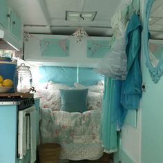 25 Best Glamper Camper Ideas Ever since your trailer wasn't designed to get people sleeping in it, you will need to make adjustments to ensure it is safe. Vintage Rv, Vintage Caravans, Vintage Travel Trailers, Retro Campers, Camper Trailers, Vintage Campers, Tiny Trailers, Trailer Interior, Camper Interior