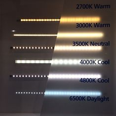 From warm to cool LED lighting and Kelvin ratings.- From warm to cool LED lighting and Kelvin ratings. From warm to cool LED lighting and Kelvin ratings. Cove Lighting, Strip Lighting, Interior Lighting, Lighting Ideas, Hidden Lighting, Indirect Lighting, Under Cabinet Lighting, Led Light Design, Ceiling Light Design