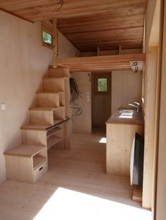 Ty NKa Tiny House by Ty Rodou 003 house conversion house ideas house interior house interior floor plans house interior small house plans Tiny House Stairs, Tiny House Cabin, Tiny House Living, Tiny House Builders, Tiny House Design, Life Design, Shed Homes, Cabin Homes, Shed Interior