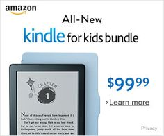 Kindle for Kids Bundle with Kindle E-reader Generation, Worry-Free Guarantee, Blue Cover Amazon Specials, Amazon Deals, Medium, No Worries, Kindle, Education, Learning, Cover, Free