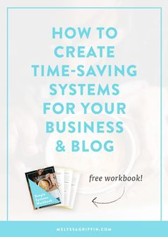 Having trouble getting everything finished on your to do list? Do you want to grow your business and blog, but think there aren't enough hours in the day? Well, if you're an entrepreneur or blogger, you just need better SYSTEMS! Click through to read how to do it! There's even a free workbook download. ;)