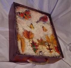 box, decoupage, chalk paint