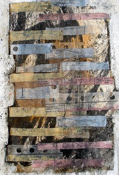 "Scott Bergey  # 1737 ""Let Me Start Over""  12 x 9 , mixed media collage on paper. May 2012"