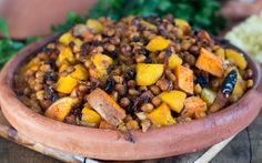 Orange Vegetables Tagine With Peaches [Vegan] | One Green Planet