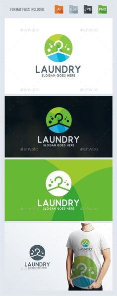 Laundry Logo Template Vector EPS, AI. Download here: http://graphicriver.net/item/laundry-logo-template/14071534?ref=ksioks