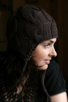 wendybee2's Exciting hat 18 Seconds to Sunrise Hat by Tiffany Gallagher. malabrigo Chunky. Pearl Ten color.
